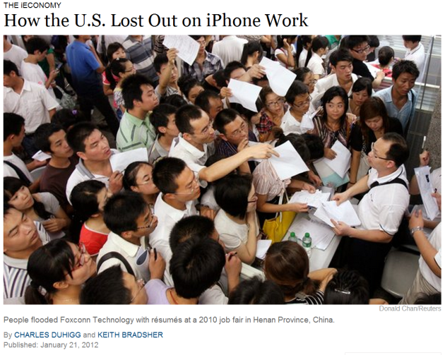How the US lost out on iPhone work
