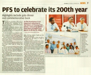 PFS to celebrate its 200th year